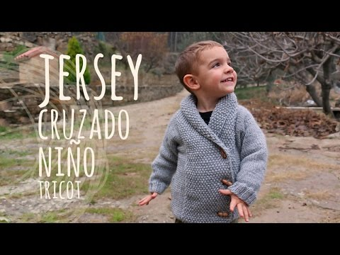 Tutorial Jersey Niño Cruzado Fácil Tricot | Dos agujas