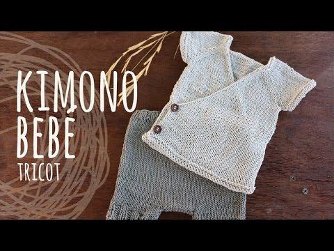 Tutorial Kimono Bebé Tricot | Dos Agujas (Conjunto Kimono)