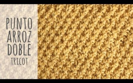 Tutorial Punto Arroz Doble Tricot | Dos Agujas