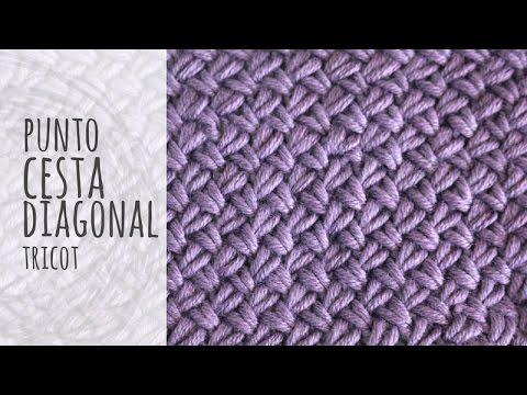 Tutorial Punto Cesta Diagonal Tricot | Dos agujas