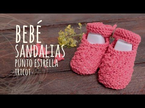 Tutorial Sandalias Bebé Punto Estrella Tricot | Dos Agujas