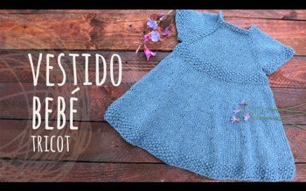 Tutorial Vestido Bebé Tricot   Dos Agujas