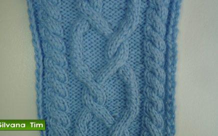 Tutorial de tejido con dos agujas # 219 Punto TRENZA DECORATIVA
