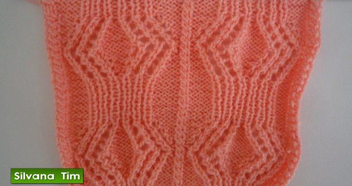 Tutorial de tejido con dos agujas. Preciosa Puntada ROMBOS CALADOS / PUNTO CALADO knitting # 379