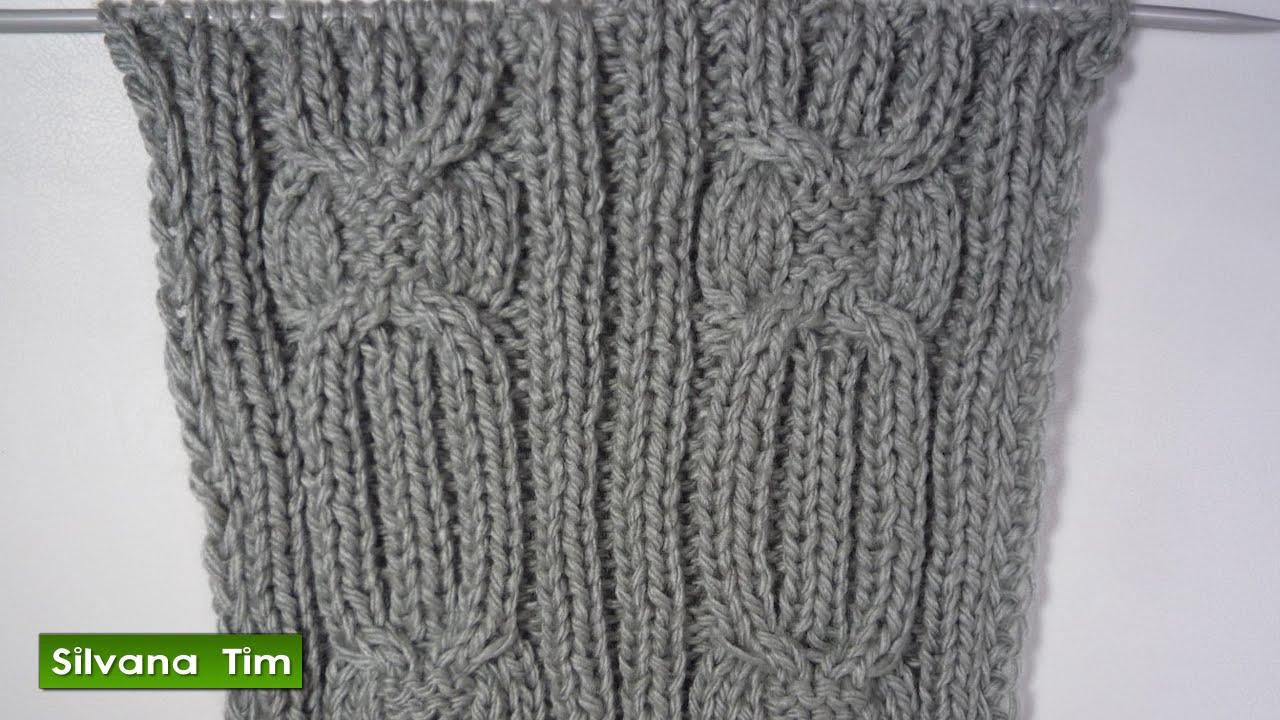 Tutorial de tejido con dos agujas. Video. Punto OCHOS # 397