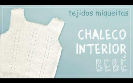 Tutorial para tejer chaleco para bebé a dos agujas (subtitles available)