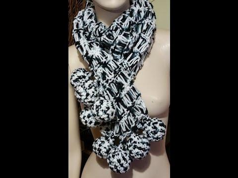 Tutorial sciarpa ai ferri - knitted scarf - bufanda a dos agujas