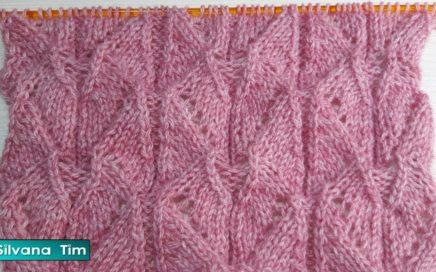 Vamos a tejer precioso PUNTO DIAMANTES Tejido con dos agujas / Silvana Tim # 694