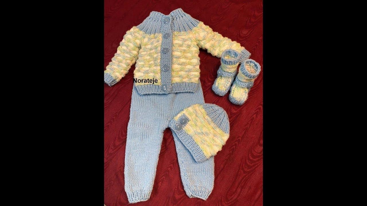 Zapatos, botitas, babuchas de bebe a 2 agujas tutorial