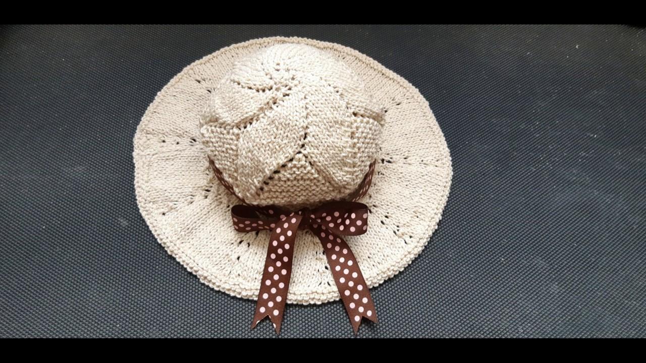 como tejer sombrero para playa paso a paso en dos agujas tutorial para zurdos