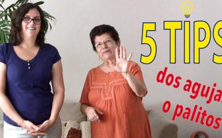 5 tips para tejer en dos agujas o palitos de Esperanza y Ana Celia Rosas
