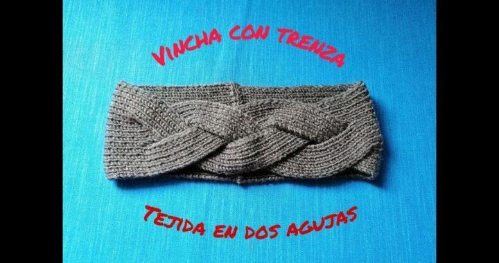 Aprende a tejer 🧶  Vincha / Diadema / banda con trenza tejida en dos agujas 🥢