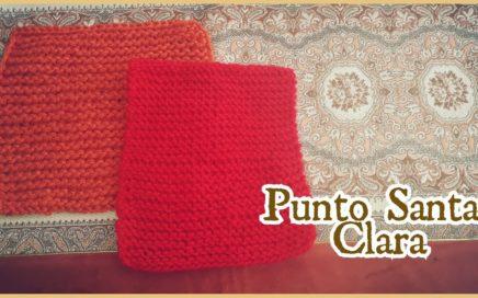 Aprende a tejer el punto SANTA CLARA en dos agujas/ punto derecho y revés .- Las Lanas De Josefa.