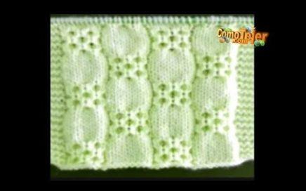 Cómo Tejer Modelo Único - Calado - Lindísimo - 2 agujas o palitos (721)