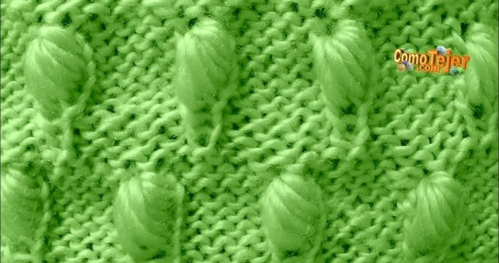 Cómo Tejer Punto Colmena Bordado-How to Knit Honeycomb Stitch  2 Agujas (352)