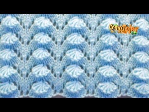 Cómo Tejer Punto en 3D Super Bonita - 2 agujas o palitos (717)
