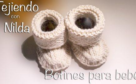 🧶 Cómo tejer botitas para bebé (dos agujas) / how to knit baby boots (needles)