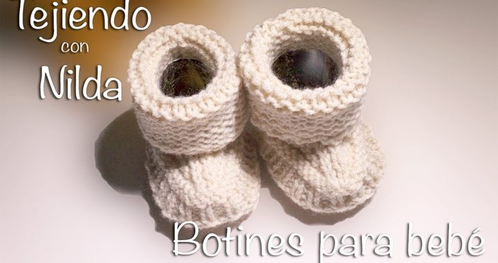 🧶 Cómo tejer botitas para bebé (dos agujas) / how to knit baby boots (needles)