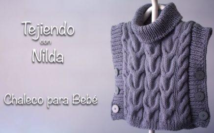 🧶 Cómo tejer chaleco para Bebé  con dos agujas / How to knit a baby vest DIY