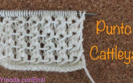 Cómo tejer punto Cattleya a dos agujas