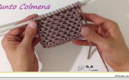 Cómo tejer punto Colmena a dos agujas paso a paso