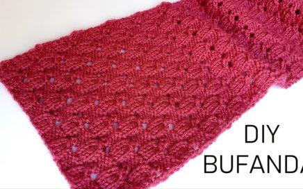 Como tejer bufanda de mujer a dos agujas paso a paso