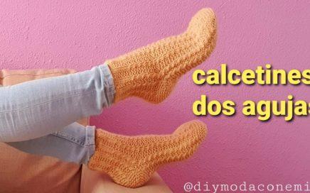 Como tejer calcetines medias a dos agujas paso a paso