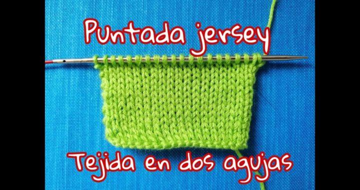 Como #tejer 🧶 puntada de Jersey en dos agujas 🥢