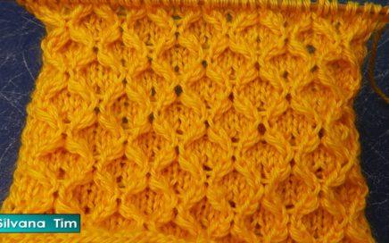 Punto Calentito de PANAL con Puntos Triples. Tutorial de tejido con dos agujas / silvana tim # 951