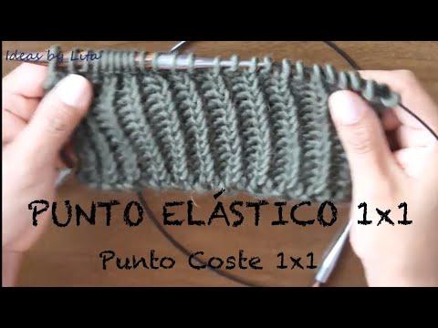 Punto Elastico 1x1 a dos agujas - aprender a tejer - tutorial paso a paso
