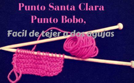 Punto Santa Clara, Punto Bobo, tejer facil a dos agujas!!