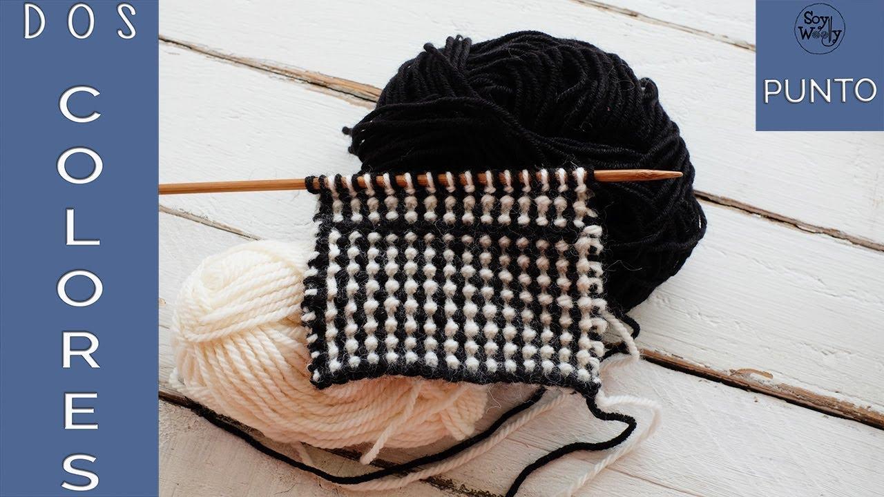 Punto en dos colores: para tejer mantas y ropa de niños en dos agujas-Soy Woolly