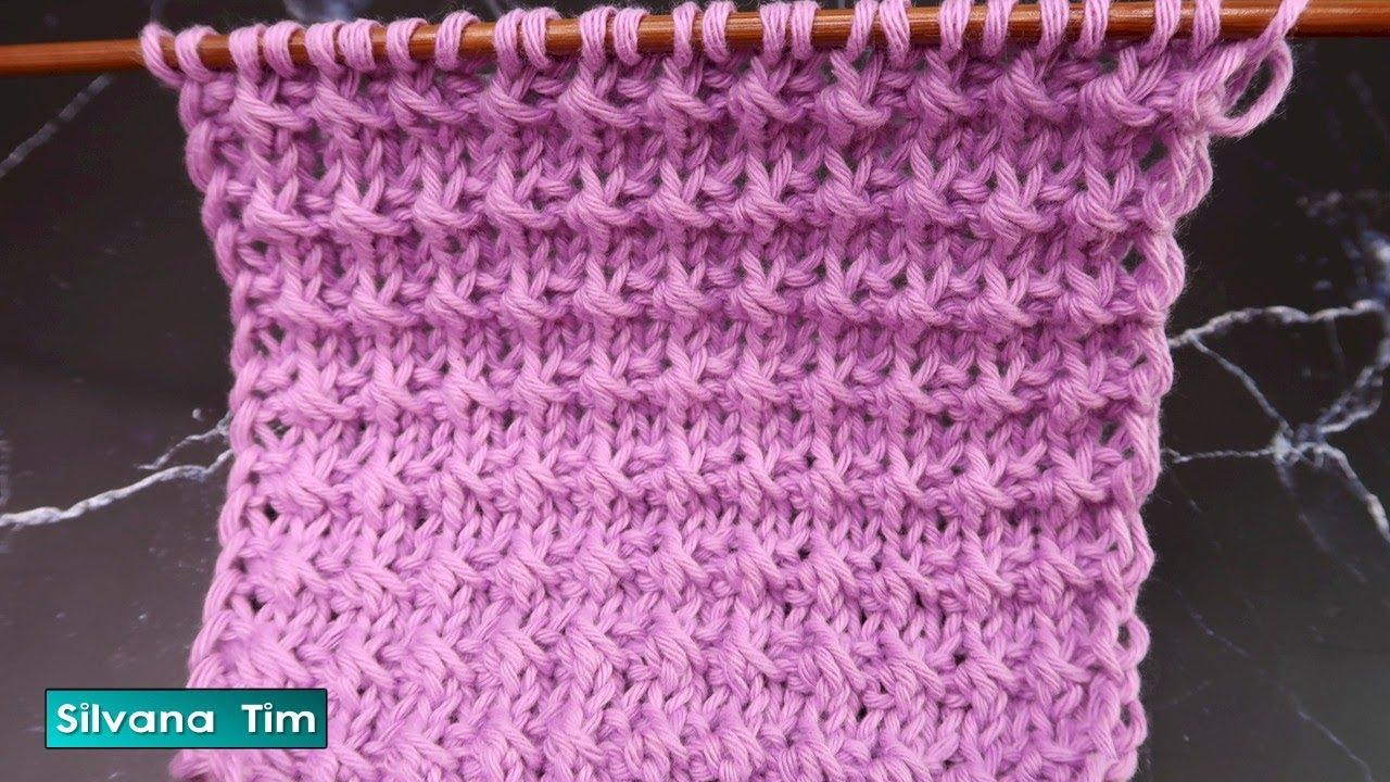Puntos Fáciles a Dos Agujas. Cómo tejer PUNTO NUDOS Facil 😉 silvana tim knitting tutorial # 936