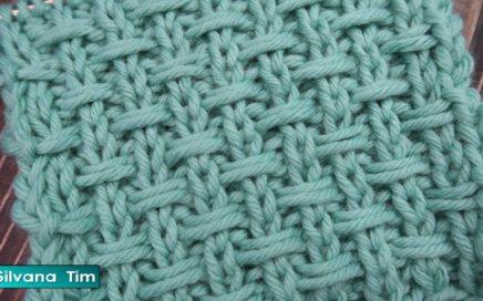 TEJIDO EN DOS AGUJAS Punto ABRIGADO Fácil de tejer para Principiantes 💛 silvana tim tejidos # 939