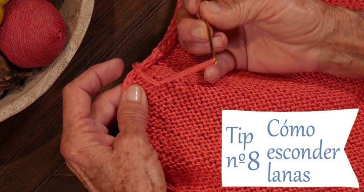 Cómo esconder lanas 👌 Tips para Tejer Bien y Fácil con dos agujas