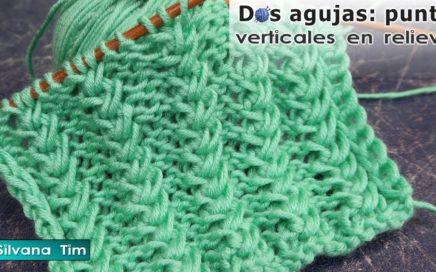 Punto en Relieve moderno para tejer Bufanda 🧣 Tejido con dos Agujas # 923