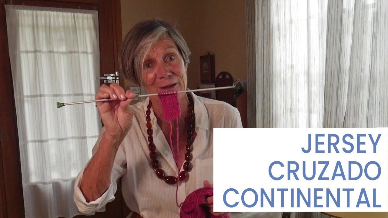 Puntos de #tejer dos agujas ➜ Jersey cruzado continental ➜ Cómo Tejer