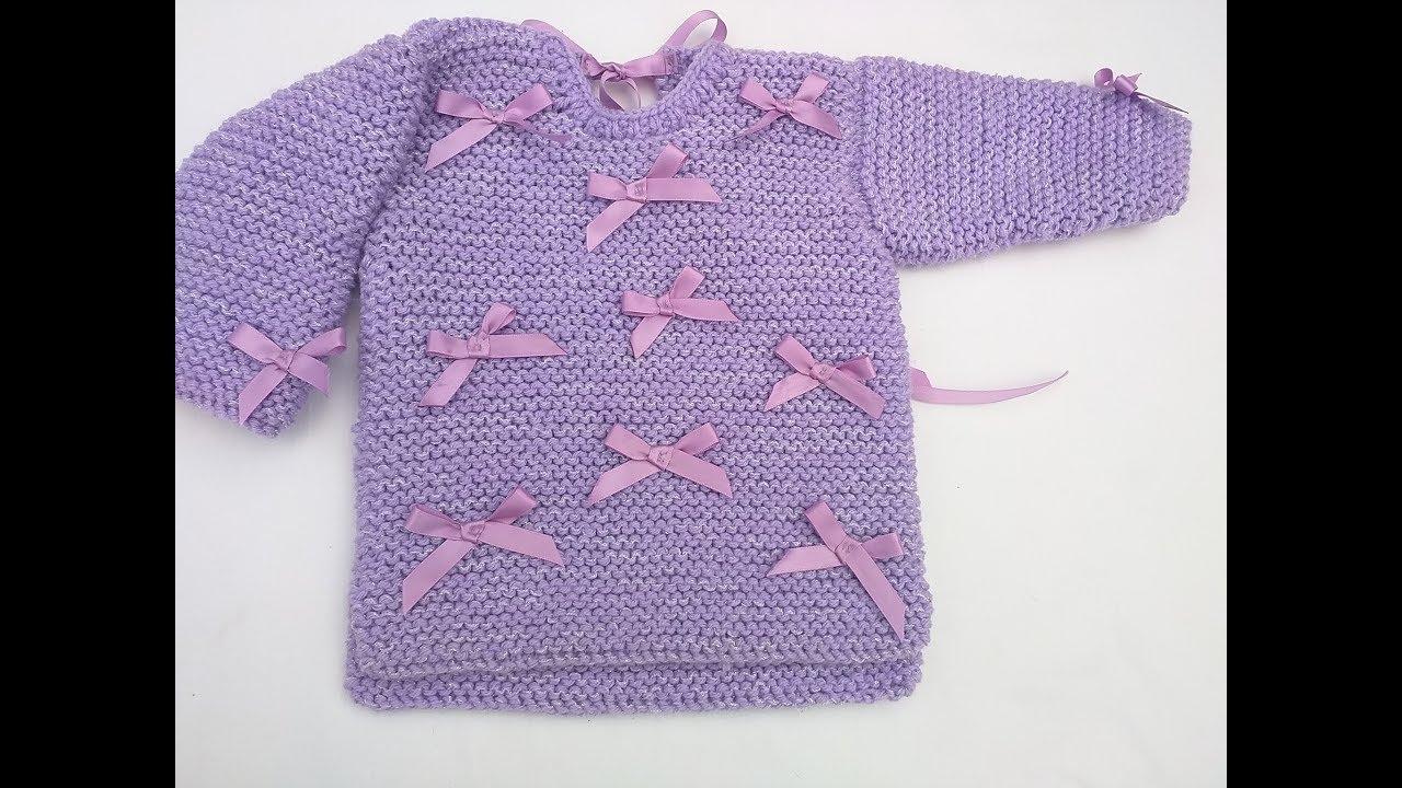 como tejer suéter o jersey en dos agujas fácil y rápido