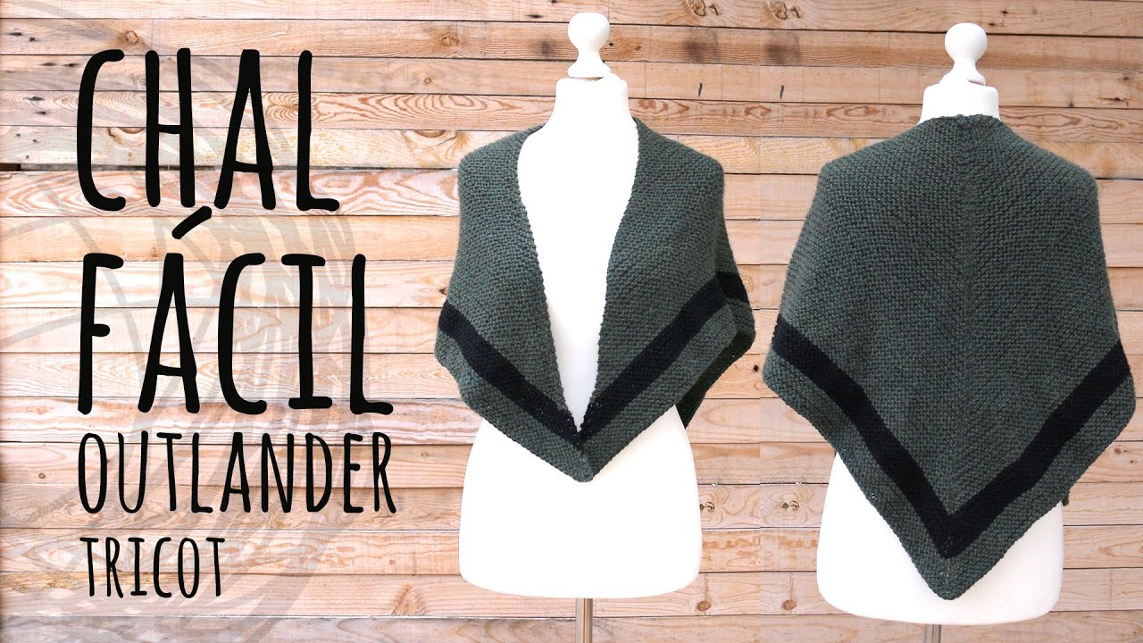 Tutorial Chal Fácil Triangular Outlander | Tricot o Dos Agujas | Lanas y Ovillos